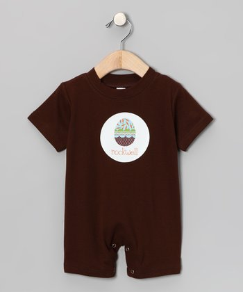 Brown Easter Egg Personalized Romper - Infant