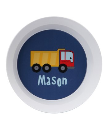 Dump Truck Personalized Bowl