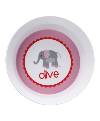 Elephant Love Personalized Bowl