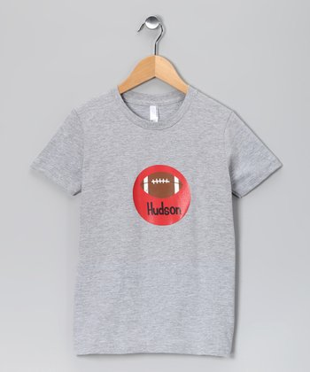 Scarlet Personalized Football Tee - Boys