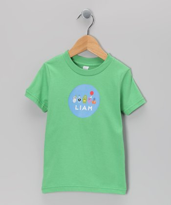 Green Monster Birthday Bash Personalized Tee - Toddler