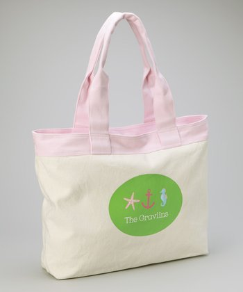 Green Nautical Beach Tote