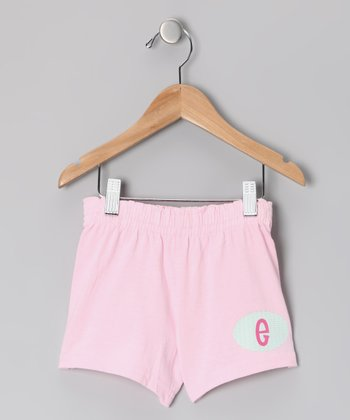 Pink Initial Shorts - Girls