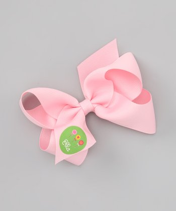 Pink Lollipop Personalized Bow Clip
