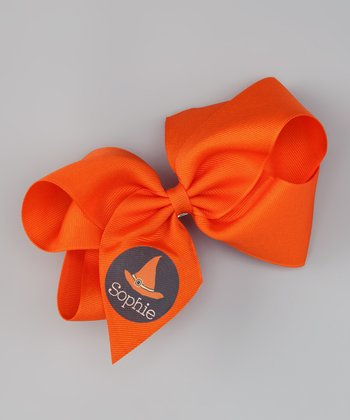 Orange Witch Hat Personalized Clip
