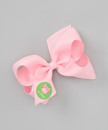 Pink Patchwork Owl Personalized Bow Clip