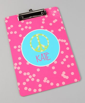 Peace Sign Personalized Clipboard