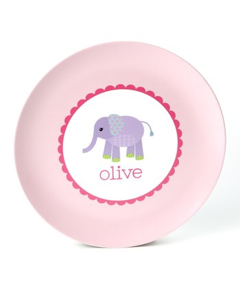 Elephant Personalized Plate