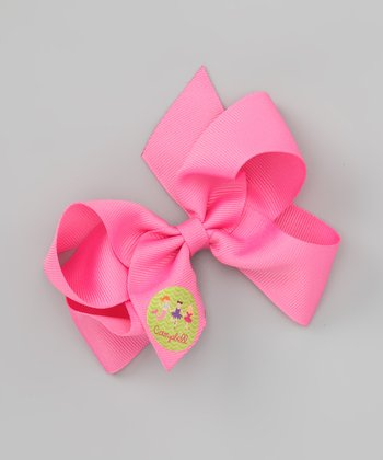 Hot Pink Princess Personalized Bow Clip