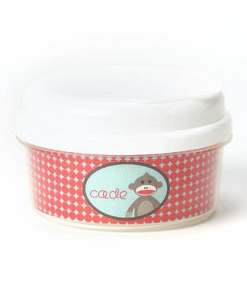 Sock Monkey Personalized Snack Container