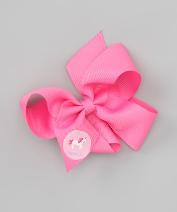 Hot Pink Unicorn Personalized Bow Clip
