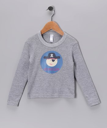 Gray Pirate Personalized Long Sleeve Tee - Toddler & Boys