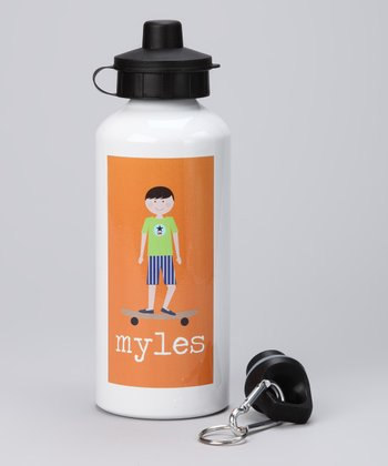 Skateboard Boy Personalized 20-Oz. Water Bottle