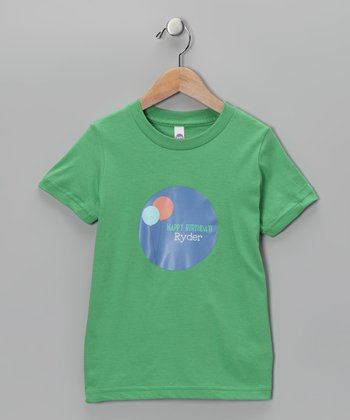 Green Balloon Personalized Tee - Toddler