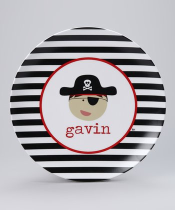 Pirate Personalized Plate