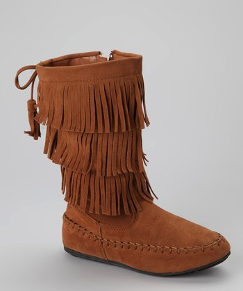 Tan Katherine Fringe Boot - Toddler & Kids