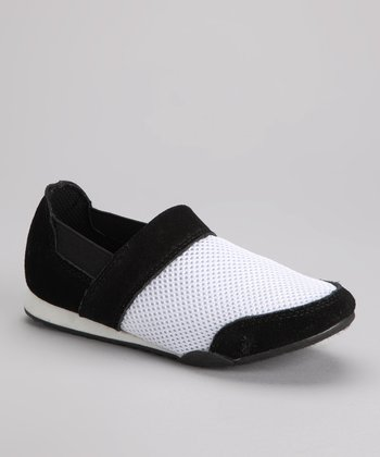 Black & White Sandy Slip-On Sneaker