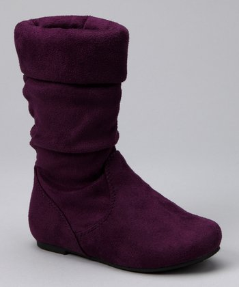 Purple Jolyn Slouch Boot