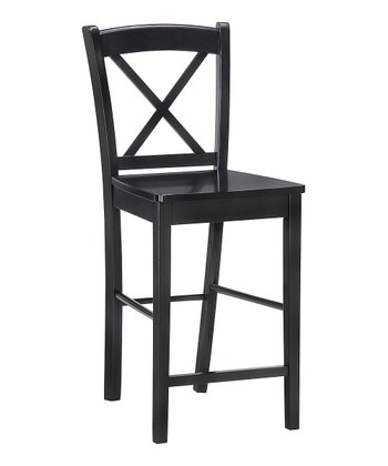 Black X-Back Stool