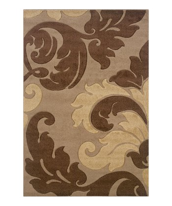 Tan Damask Corfu Rug