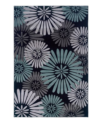 Black & Sea Glass Daisy Milan Rug