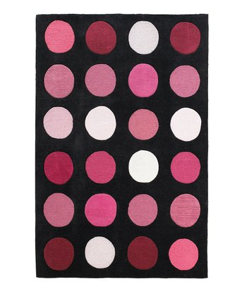 Black & Pink Dot Trio Rug