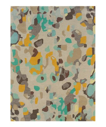 Gray Splat Trio Rug