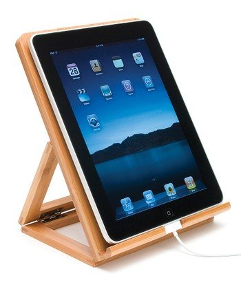 Bamboo Folding Easel Stand for iPod