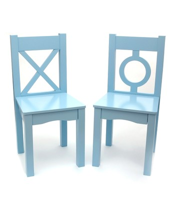 Light Blue Chair - Set of Two