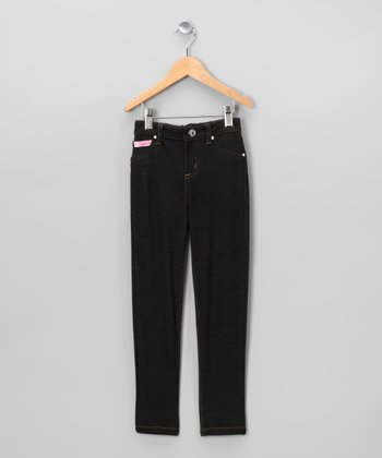 Dark Blue Denim Pants - Toddler & Girls