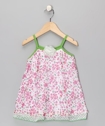 April Flower Rosette Tank - Toddler