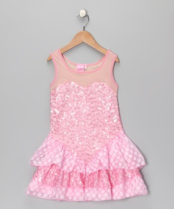 Precious in Pink Sweetheart Sequin Dress - Toddler & Girls