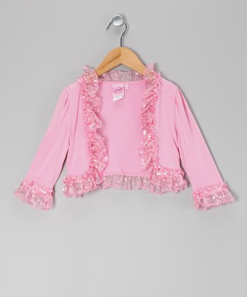Precious In Pink Ruffle Jacket - Toddler & Girls