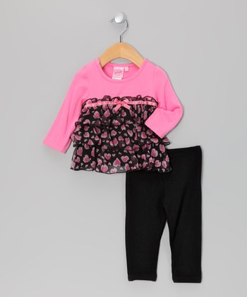 Pink Heart Tunic & Leggings - Infant & Toddler