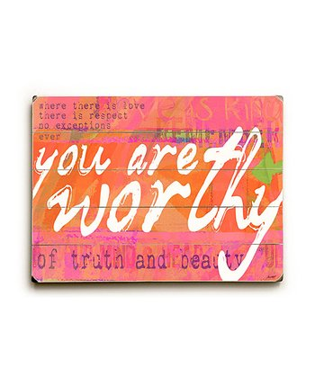 'You Are Worthy' Wall Art