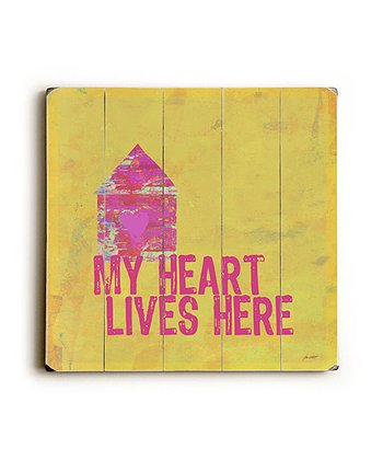 'My Heart Lives Here' Wall Art