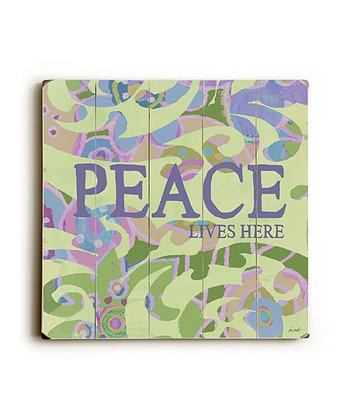 'Peace Lives Here' Wall Art