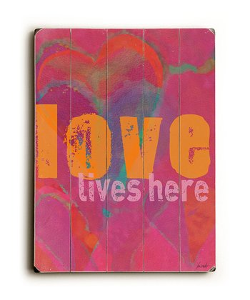 'Love Lives Here' Wall Art