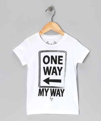 White 'One Way My Way' Tee - Infant, Toddler & Boys