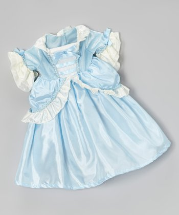 Blue Ruffle Parisian Princess Doll Dress