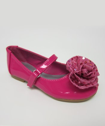 Fuchsia Sequin Enna Mary Jane