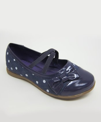Purple Polka Dot Faye Flat