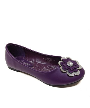 Purple Flower Carly Flat