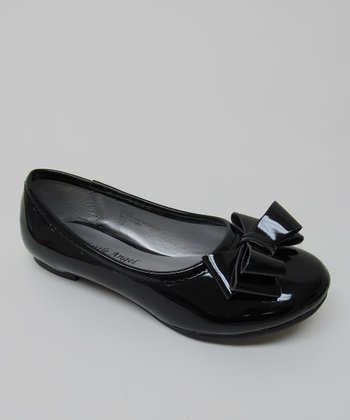 Black Patent Bow Carly Ballet Flat