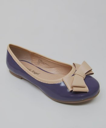 Purple Patent Bow Carly Ballet Flat