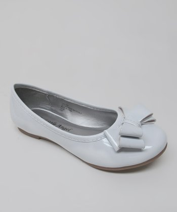 White Patent Bow Carly Ballet Flat