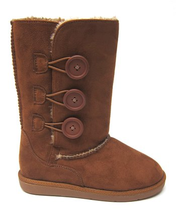 Tan Button Hug Boot