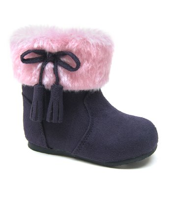 Purple Faux Fur Ice Boot