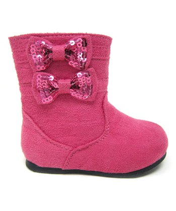 Hot Pink Ice Bow Boot