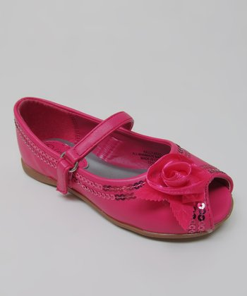 Fuchsia Kelly Peep-Toe Mary Jane